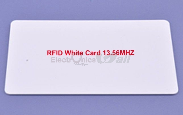 RFID White Card 13.56Mhz (5.5X8.5cm)