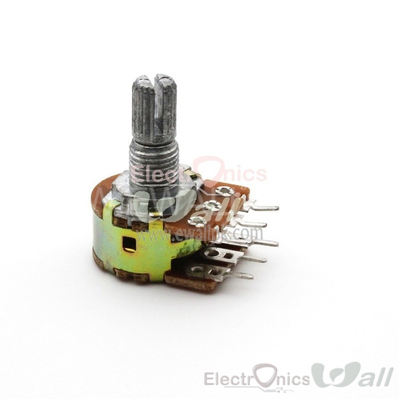 10K Dual Port Potentiometer / Variable Resistor B10K shaft 15mm