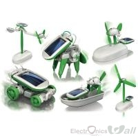 6 IN 1 Solar Car, Dog, Airboat, Robot DIY Toy Kit