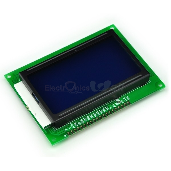 12864 128X64 Ks0108 dots graphic blue color back light lcd display module