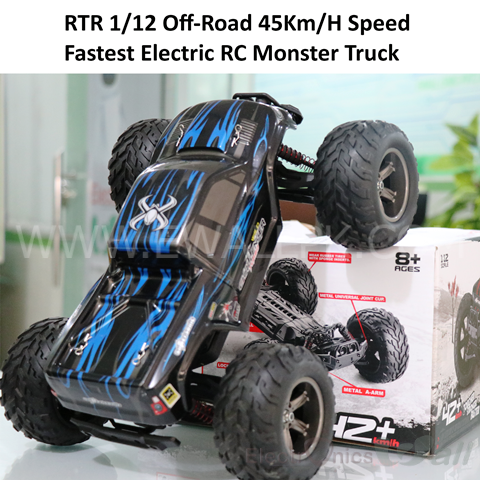 RTR 1/12 Off-Road 45Km/H Speed Fastest Electric RC Monster Truck / Car