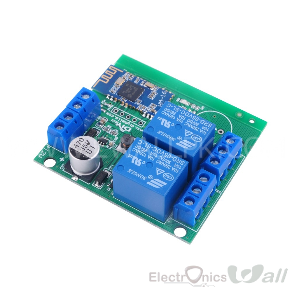 Bluetooth Based 2 Channel Relay Module 4.1BLE for Home Appliances Control