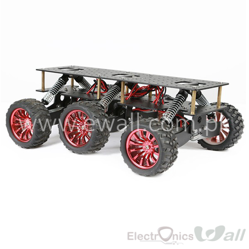 6WD Search And Rescue Platform Smart Robot Chassis Shocked Off-Road