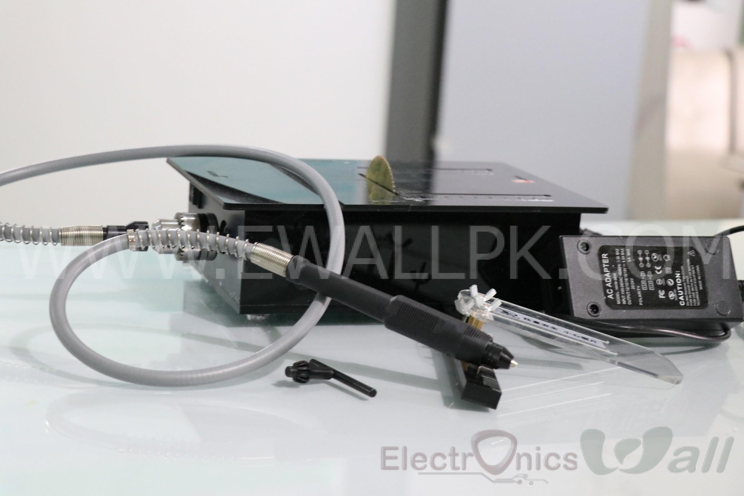 Mini Desktop Table Saw With Drill Machine PCB/Acrylic/Wood Cutting Machine ( Full Set Edition)