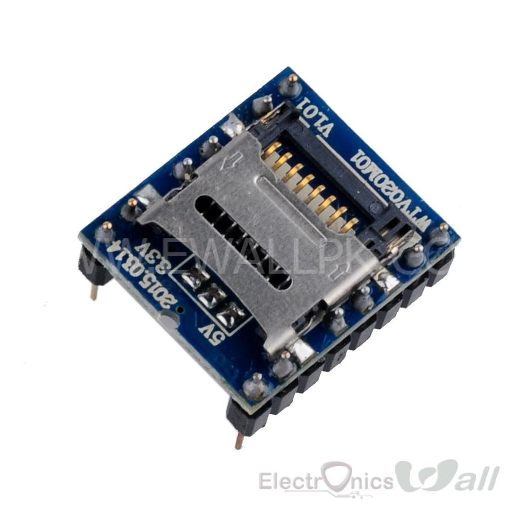 WTV020SD 20SS Mini SD Card MP3 Sound Module