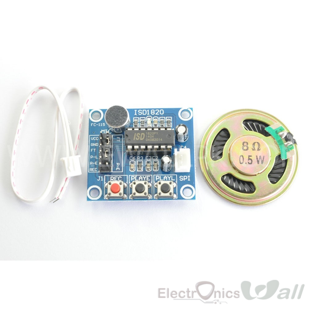 ISD1820 Sound Voice Recording Playback Module
