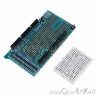 PROTOSHIELD V3 + MINI PROTOBOARD FOR ARDUINO MEGA
