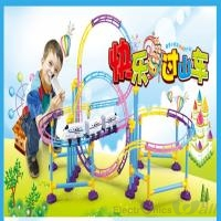 Large 3D Electric Toy Train Roller Coaster for KIDs (137pcs)