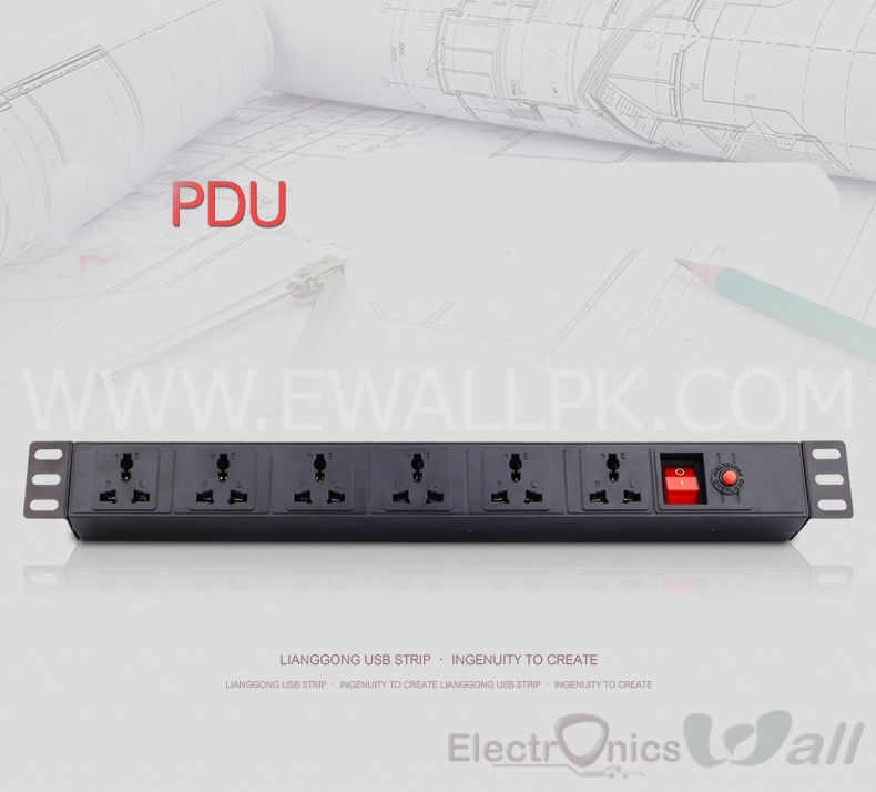 Power Distribution 6 Switches Unit Board PDU for Labs