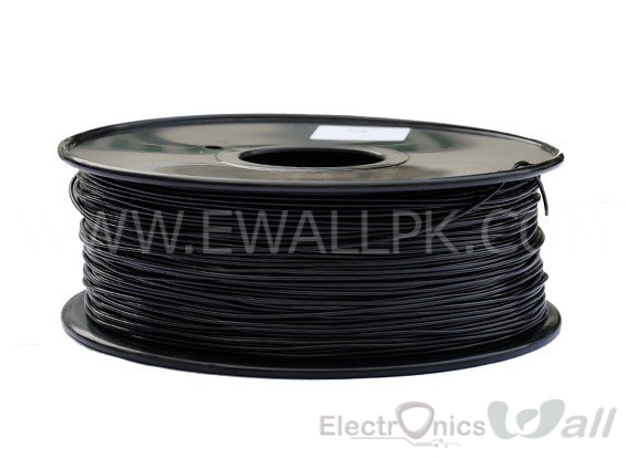 1.75mm PLA -Black 3D printer filament 1Kg (Economy )