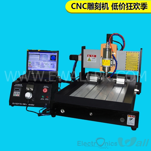 4030 800W 4 axis CNC Aluminium/Metal Milling Machine (High Quality)