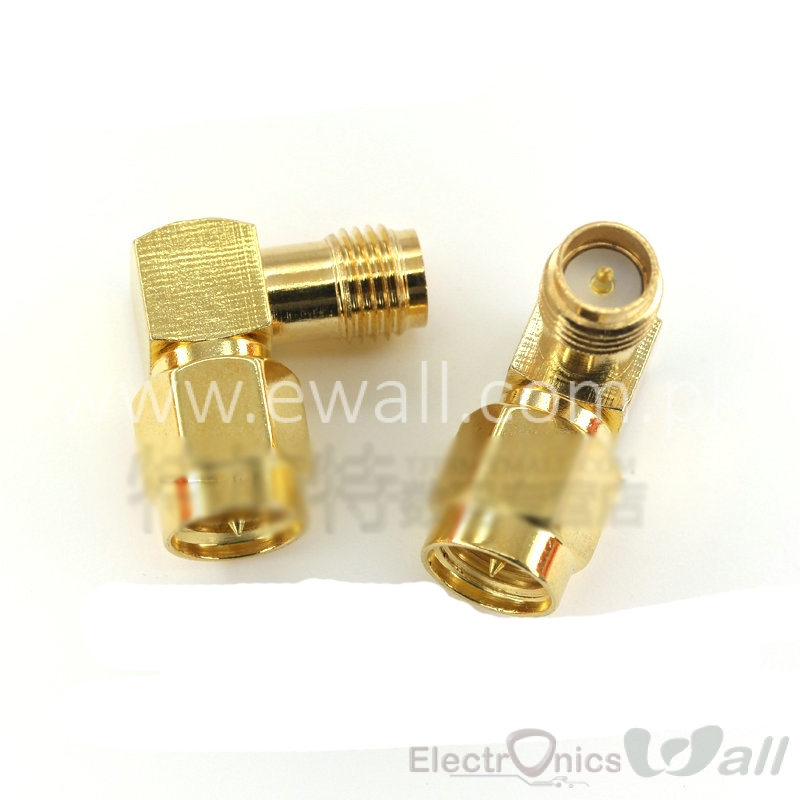 SMA 90 degree Male (pin inside ) to Female (pin inside)