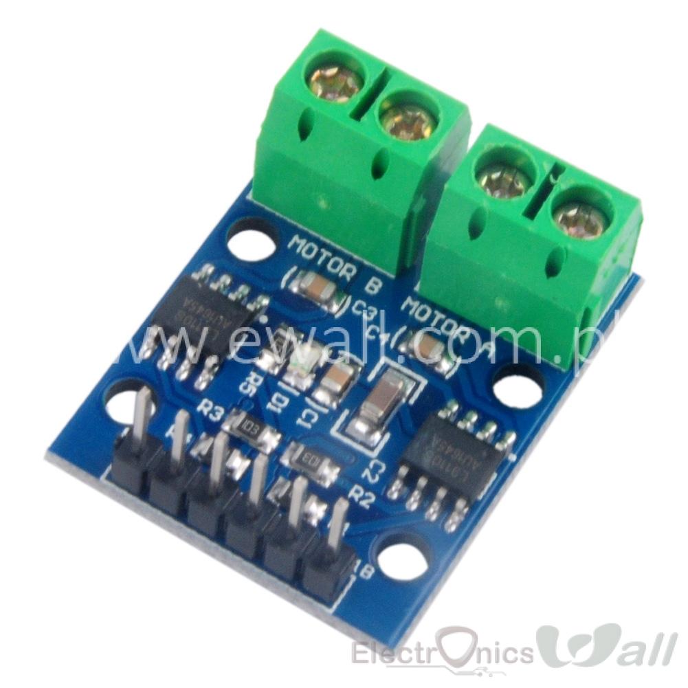 Ewall L9110 Dual Channel Dc Motor Driver H Bridge Controller Board Driving Using