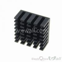 Aluminum Heatsink 20*20*10MM, Black Color Heat Sink
