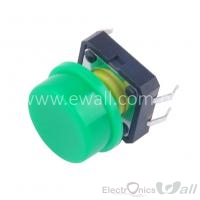 B3F Keys 12 * 12 * 7.3 Buttons with Rounded Cap (Green Color )