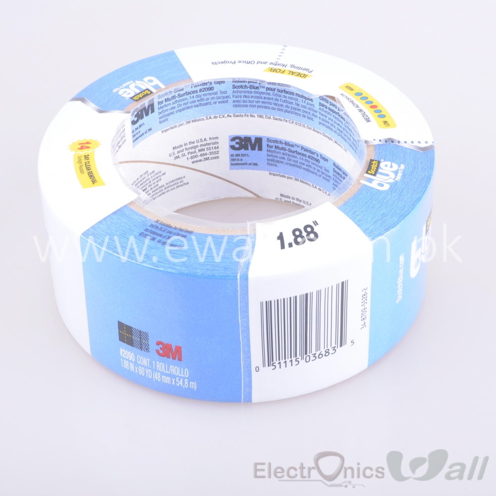 3M Heat Resistant Adhesive Blue Tape For 3D Printer Print Bed 1.88