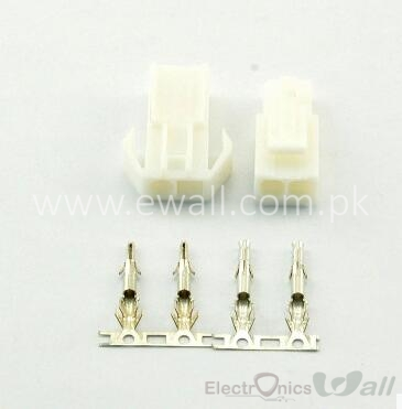 2Pin Tamiya Connector Set EL 4.5MM male & Female with pins (Pair)
