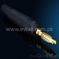 Gold Plated Terminal 4mm Banana Plug Male Jack Socket  (Black)