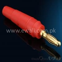 Gold Plated Terminal 4mm Banana Plug Male Jack Socket Red