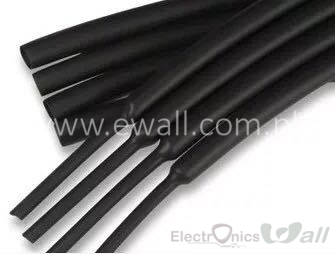 12mm Black Heat-shrink shrinkable tube (1Meter)