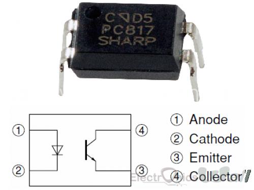 PC817 DIP-4 OptoCoupler (EL817)