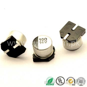 16V 100uF SMD Aluminum Electrolytic Capacitor 6*5MM MPN: VT1C101MG054000CEO