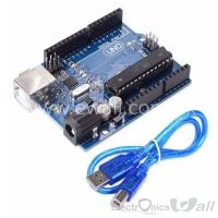 Arduino UNO R3 with USB cable (Ecnomical)