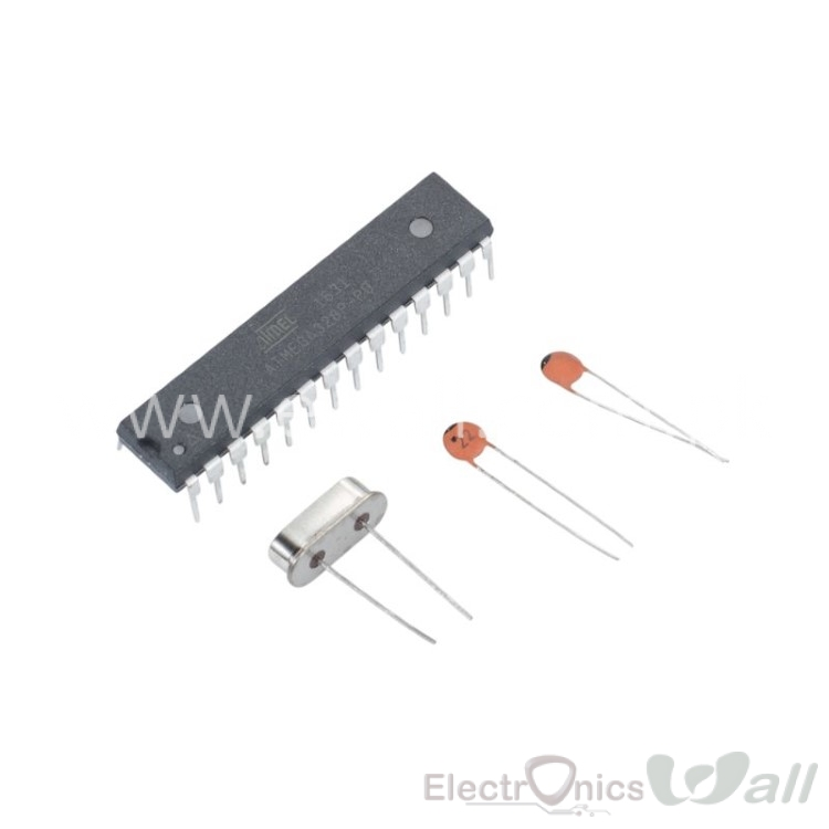 ATMEGA328P-PU DIP-28 with 16MHz Crystals HC-49S 2PCS Ceramic Capacitors 22pf