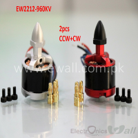 EWALL- EW2212 960KV Brushless Motor Red & Silver  with Accessories  (2pcs , CW and CCW )