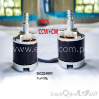 EWALL- EW2212 960KV Brushless Motor Black & Silver  with Accessories  (2pcs , CW and CCW )