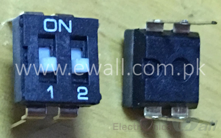 Black in-line Coding DIP Switch KI 2bit P 2.54mm ON/OFF Selectable Switches