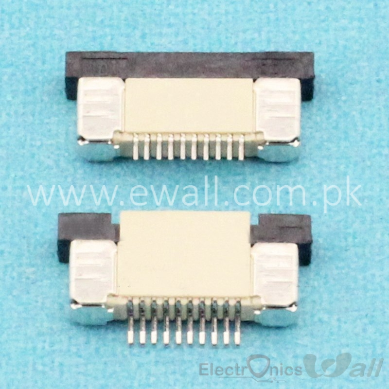 10 Pin FPC Connector 0.5mm , 10P Cable Up connection