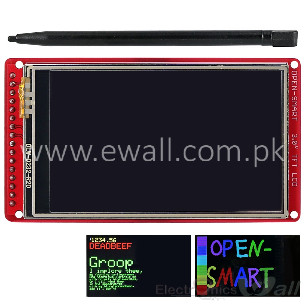 3.0 inch  TFT LCD Touch Screen Pen Resistive 400*240 Breakout Board for Arduino