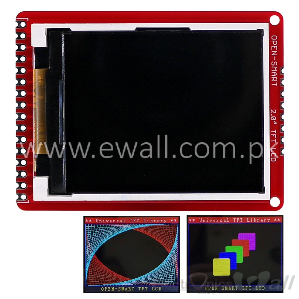 2.0 inch TFT LCD Shield Breakout Module 3.3V for Arduino Nano Pro Mini OPEN-SMART  176*220 8-bit Parallel