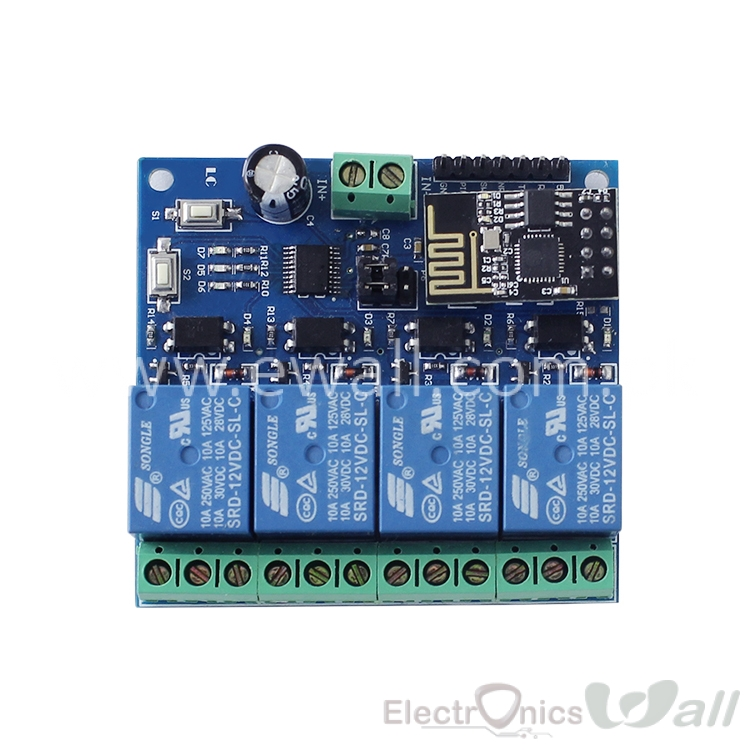 IOT based 4 Channel Relay module with ESP8266 ESP-01 For IOT Smart Home Phone APP Controller