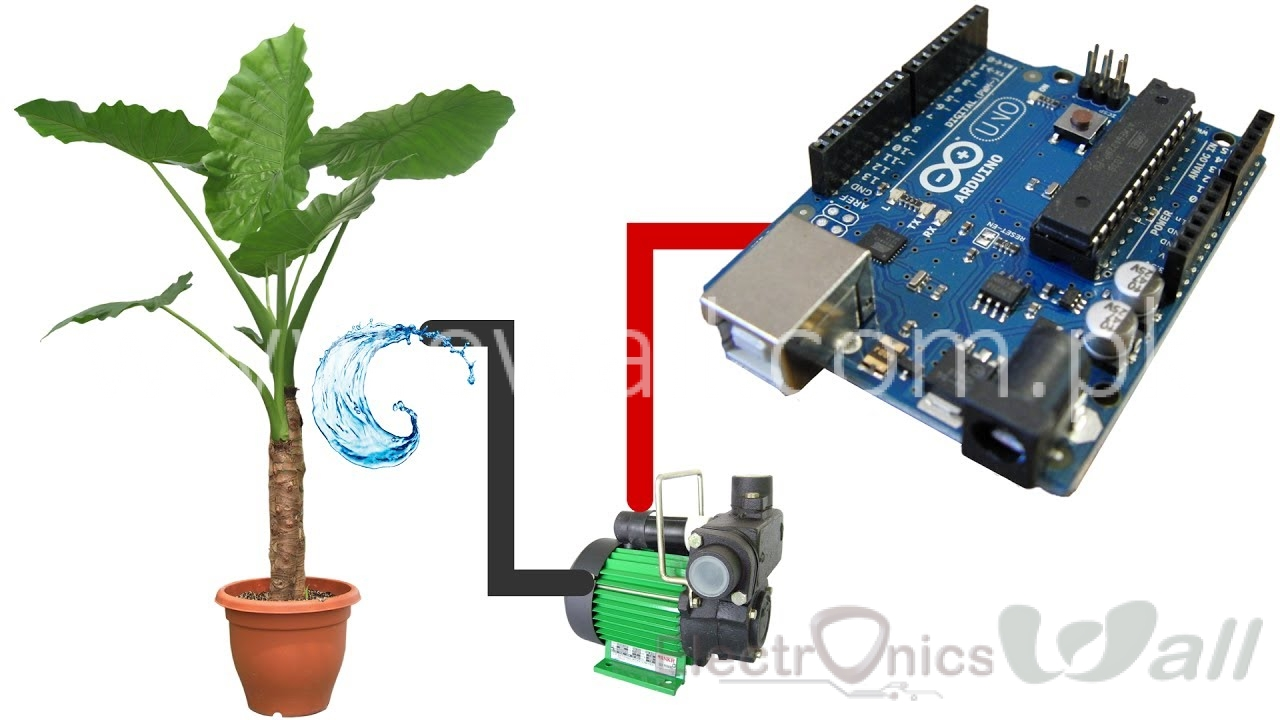 (Students Science  Activity) Plants Arduino Automatic watering DIY Smart Home Kit