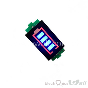 Lithium Battery Voltage Indicator  Display 4S