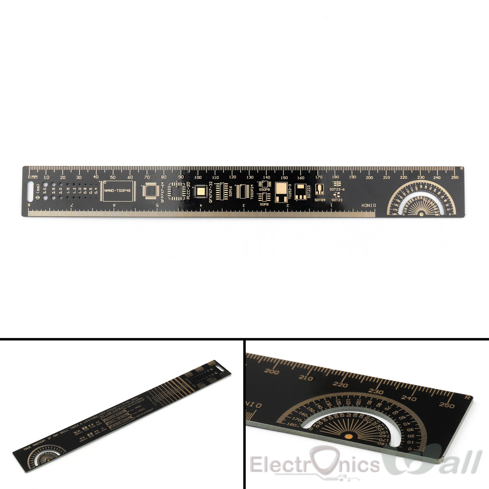 25Cm Multifunctional PCB Ruler For Electronic Engineers Tool Chip IC SMD