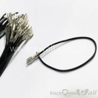 FDD2-250 Quick Disconnect Terminal with 18awg 600v Female 25cm Wire- Black Color