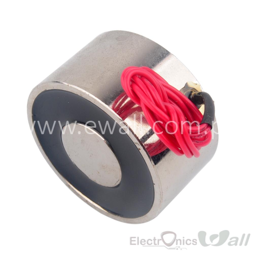 25Kg Lifting Power Solenoid DC 12V 3.5W Electric Lifting Magnet Holding Electromagnet Solenoid ELE-P40/20 DC12V