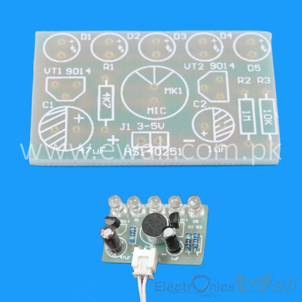 DIY Student Learning Sound-activated Sound Level Control LED Lamp Kit 3-5.5v