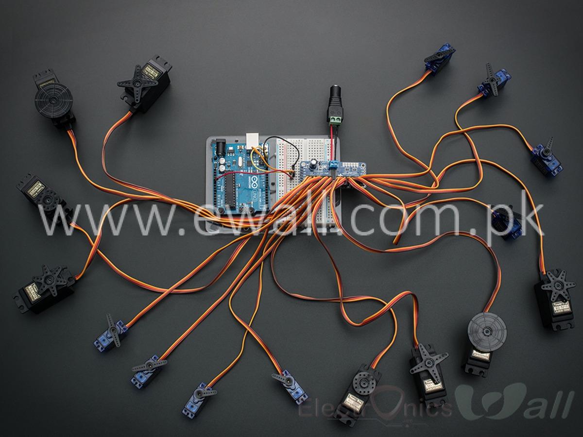 16 into 1 16CH PWM Controller Servo Control Module CJMCU-PCA9685  12-Bit  I2C Bus based