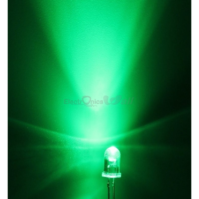 5mm Crystal Green LED