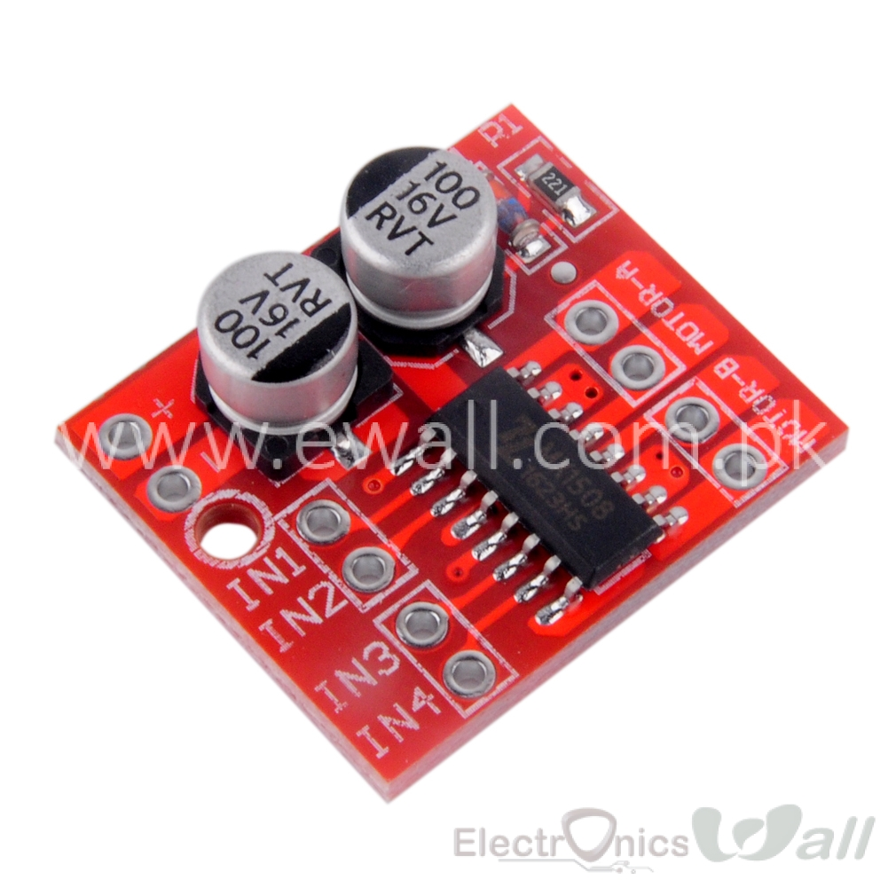 1.5A H-Bridge Dual Channel DC Motor Driver Module PWM based like L298N