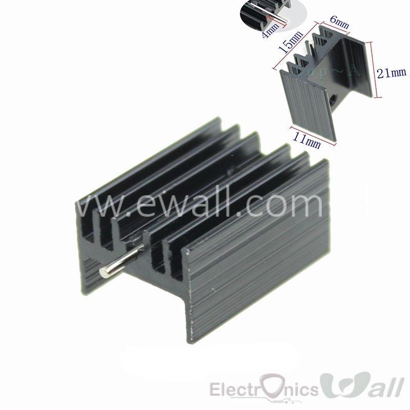 TO-220 TO220 Heat Sink 21x15x11mm Cooler Cooling Heatsink Radiator Aluminum