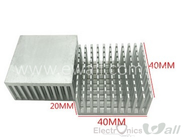 40*40*19mm HeatSink Alluminum 40x40x19mm Heat Sink