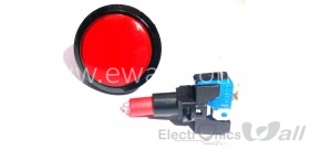 46mm Round Push Button with LED Big Arcade Gaming Pushbutton (Red)