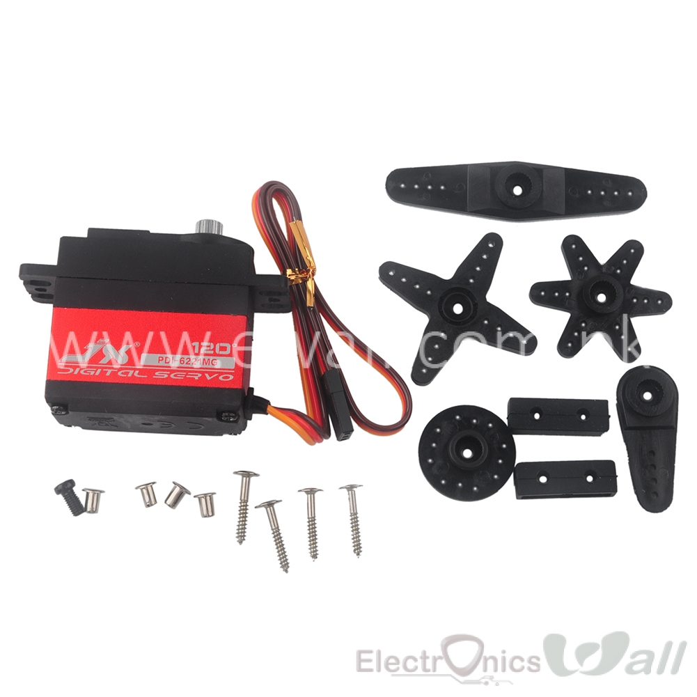 20KG Large Torque Digital Servo for RC Car 20Kg JX PDI 6221MG Crawler RC Boat Helicopter RC Model Mg6221
