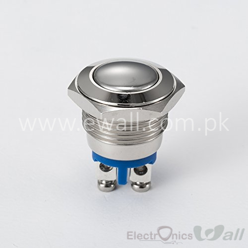 16mm Momentary Latch Switch Waterproof Stainless Steel Metal Pushbutton Round Ball Top 250V AC 5A 1NO SPST high Grade Pushbutton