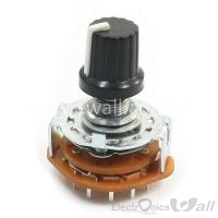 RS25 Potentiometer Rotary Switch 3P4T 15P